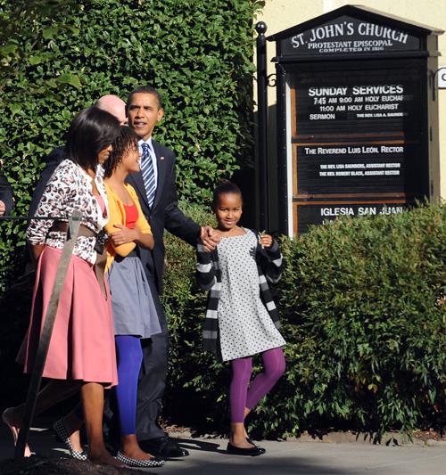 Los Obama dan dinero a instituciones cristianas